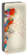 Sweet Jenny Bursting With Music Portable Battery Charger by Nikki Smith