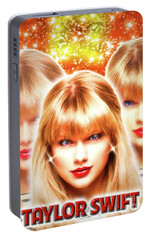 Taylor Swift - Beautiful Vision Portable Battery Charger by Robert Radmore