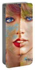 Taylor Swift - Blended Perfection Portable Battery Charger by Robert Radmore