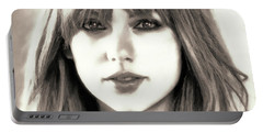 Taylor Swift - Glowing Beauty Portable Battery Charger by Robert Radmore