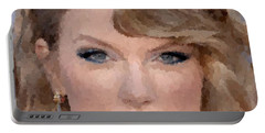 Taylor Swift Portable Battery Charger by Samuel Majcen