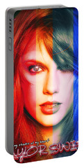 Taylor Swift - Sparks Alt Version Portable Battery Charger by Robert Radmore