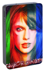 Taylor Swift - Sparks Portable Battery Charger by Robert Radmore