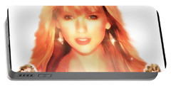 Taylor Swift - Stunning Portable Battery Charger by Robert Radmore