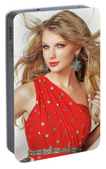 Taylor Swift Portable Battery Charger by Twinkle Mehta