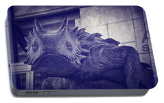 Tcu Horned Frog Purple Portable Battery Charger by Joan Carroll