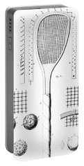 Tennis Racket And Balls Portable Battery Charger by French School