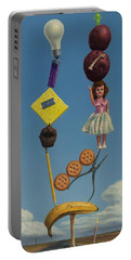 Tenuous Still-life 2 Portable Battery Charger by James W Johnson