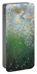 The Angel Of Growth Portable Battery Charger by Annael Anelia Pavlova