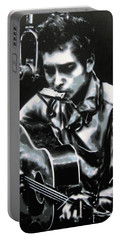 The Answer My Friend Is Blowin In The Wind Portable Battery Charger by Luis Ludzska