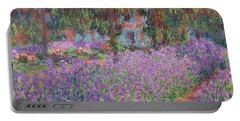 The Artists Garden At Giverny Portable Battery Charger by Claude Monet