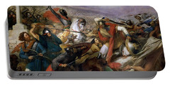 The Battle Of Poitiers Portable Battery Charger by Charles Auguste Steuben