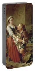 The Beautiful Kitchen Maid Portable Battery Charger by Francois Boucher