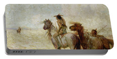 The Bison Hunters Portable Battery Charger by Nathaniel Hughes John Baird