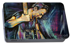 The Boss Bruce Springsteen Portable Battery Charger by Amy Belonio