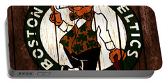 The Boston Celtics 2c Portable Battery Charger by Brian Reaves