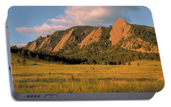 The Boulder Flatirons Portable Battery Charger by Jerry McElroy
