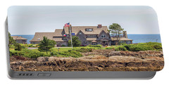 The Bush Family Compound On Walkers Point Portable Battery Charger by Brian MacLean