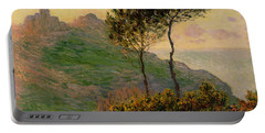 The Church At Varengeville Against The Sunlight Portable Battery Charger by Claude Monet