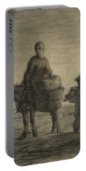 The Departure For Work Portable Battery Charger by Jean-Francois Millet