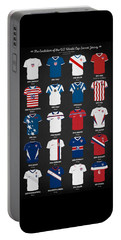 The Evolution Of The Us World Cup Soccer Jersey Portable Battery Charger by Taylan Soyturk