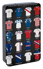 The Evolution Of The Us World Cup Soccer Jersey Portable Battery Charger by Taylan Apukovska