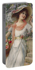 The Flower Girl Portable Battery Charger by Emile Vernon