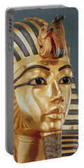The Funerary Mask Of Tutankhamun Portable Battery Charger by Unknown