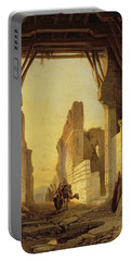 The Gates Of El Geber In Morocco Portable Battery Charger by Francois Antoine Bossuet