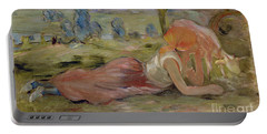 The Goatherd Portable Battery Charger by Berthe Morisot