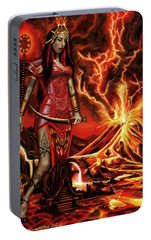 The Goodess Pele Of Hawaii Portable Battery Charger by James Christopher Hill