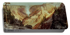 The Grand Canyon Of The Yellowstone Portable Battery Charger by Thomas Moran