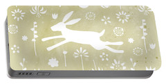 The Hare In The Meadow Portable Battery Charger by Nic Squirrell