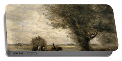 The Haycart Portable Battery Charger by Jean Baptiste Camille Corot