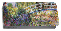 The Japanese Bridge Portable Battery Charger by Claude Monet
