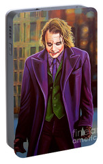 The Joker In Batman  Portable Battery Charger by Paul Meijering
