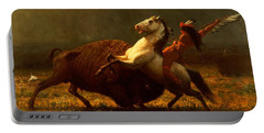 The Last Of The Buffalo Portable Battery Charger by Albert Bierstadt