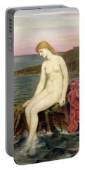 The Little Sea Maid  Portable Battery Charger by Evelyn De Morgan