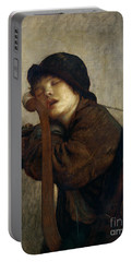 The Little Violinist Sleeping Portable Battery Charger by Antoine Auguste Ernest Hebert