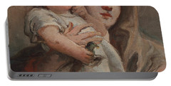 The Madonna And Child With A Goldfinch Portable Battery Charger by Tiepolo