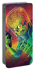 The Martian - Mars Attacks Portable Battery Charger by Taylan Soyturk