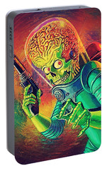The Martian - Mars Attacks Portable Battery Charger by Taylan Apukovska