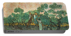 The Olive Pickers Portable Battery Charger by Vincent van Gogh