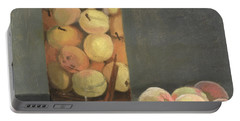 The Peach Glass Portable Battery Charger by Claude Monet