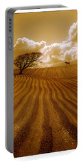 The Ploughed Field Portable Battery Charger by Mal Bray