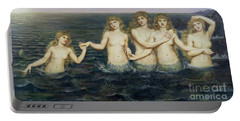 The Sea Maidens Portable Battery Charger by Evelyn De Morgan