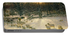 The Shortening Winters Day Is Near A Close Portable Battery Charger by Joseph Farquharson