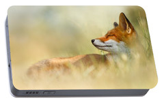 The Sleeping Beauty - Wild Red Fox Portable Battery Charger by Roeselien Raimond
