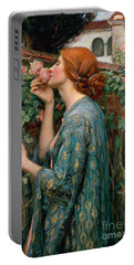The Soul Of The Rose Portable Battery Charger by John William Waterhouse