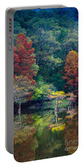 The Stillness Of The River Portable Battery Charger by Inge Johnsson